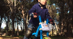 Three year old Dylan Wiggill will be seen in action testing his Ybike at the Ybike Trail Series at Meerendal Wine Estate as part of the ISUZU MTB Festival Cape Town on Saturday, 05 September 2015.  PHOTO CREDIT:  Tamsyn Wiggill