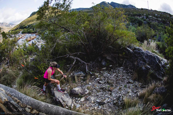 Liandi van der Westhuyzen dominating at the Spur Cape Winter Trail Series™ in Kleinmond. Image by Ewald Sadie