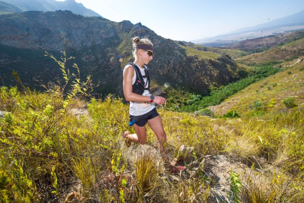Nicolette Griffioen in action at the AfricanX Trailrun, earlier this year.  Photo Credit:  Volume Photography