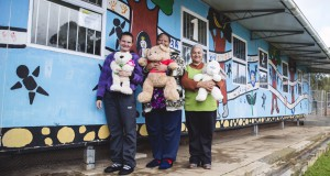FNB Wines2Whales (W2W) is proud to continue its support of the Thandi Community Crèche.  Seen here (from left to right):  Fransiena Plaatjies, Elizabeth Van Wyk and Eveline Maritz, caregivers at the Thandi Community Crèche.  Photo Credit:  Ewald Sadie