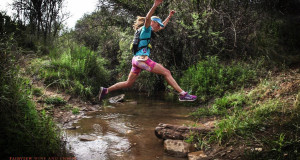 It's not all dry and desert-like at the Fairview Dryland Traverse. There's a lot of interaction with water, including stream and river crossings and passing waterfalls and dams.  Photo credit: www.oakpics.com
