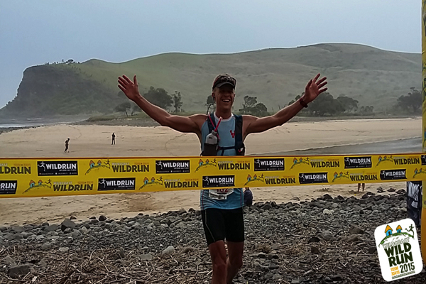 Bennie Roux takes the Wildcoast Wildrun® 2015 and smashes the record on day 3. Image courtesy of Wildrunner