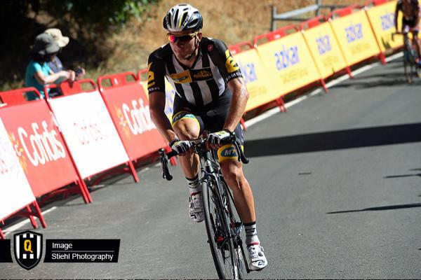 ohann van Zyl spends time in the breakaway