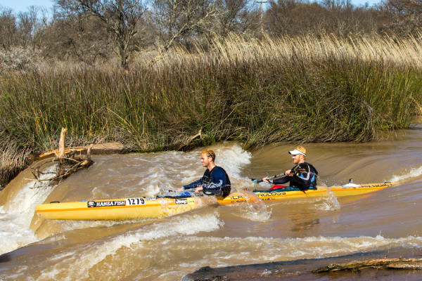 Kayak Racing/Macsteel Maestros' Brandon van der Walt (left) and Stuart Maclaren (right) of Cape Town are set to go into the 2015 Hansa Fish River Canoe Marathon are title winning outsiders. - Kassie Karsten/ Gameplan Media