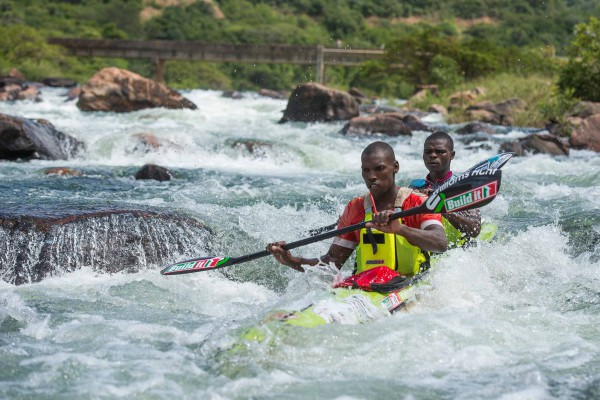 Thulani Mbanjwa (front) will renew his partnership with rising star Nhlanhla Cele for the Hansa Fish River Canoe Marathon next weekend, hoping to rediscover the form that took them to victory in this year's Non-Stop Dusi Canoe Marathon. Anthony Grote/ Gameplan Media
