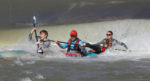 Although burdened with a physical disability Roodepoort resident Constant Olivier (centre) will not that get in his way as he tackles the 2015 Hansa Fish River Canoe Marathon with Michael (front) and Andrew Lake (back) from 9-10 October.