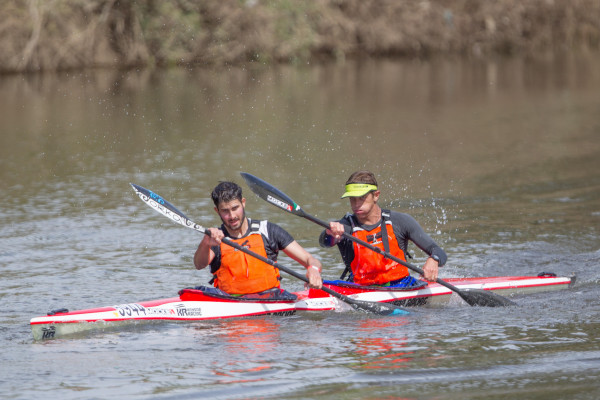 2014 fourth place finishers Tom Schilperoort (Hold Fast) and Dawid Mocké (Mocké Paddling) will be up against stiff opposition once again this weekend when they look to secure a 2015 Breede River Canoe Marathon podium place finish. John Hishin/ Gameplan Media