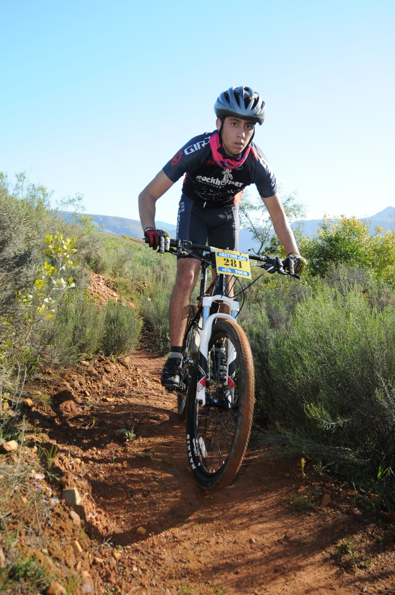 Nineteen year old Caleb Henderson will get to fulfil his dream on Monday, 02 November 2015 when he toes the line to partake in the FNB Wines2Whales (W2W) Mountain Bike (MTB) Ride that will start at the picturesque Lourensford Wine Estate (Somerset West) on Monday, 02 November 2015.  Photo Credit:  Jetline Action Photo