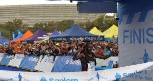 Shadrack Kemboi from Kenya proved to be the strongest athlete on the day, despite local weather conditions, winning the second edition of the relaunched Sanlam Cape Town Marathon, which took place today.