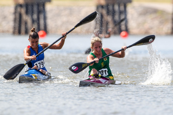 After producing one of the surprise performances of the 2014 ICF Canoe Marathon World Championships Jenna Ward will be looking to go better than her bronze medal as she aims for gold in the Under-23 Women's K1 race this weekend in Győr, Hungary. Balint Veckassy/ Gameplan Media