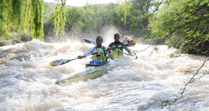 Following a disappointing Hansa Fish River Canoe Marathon the expectant duo of EuroSteel/Red Bull star Sbonelo Khwela (front) and Banetse Nkhoesa (back) will take a few weeks off and then jump right into their 2016 KwaZulu-Natal river season training with the first Dusi Canoe Marathon seeding race coming up in the form of the Umpetha Challenge starting at Camps Drift on Sunday, 8 November. Jetline Action Photo/ Gameplan Media