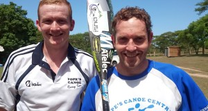 Following a few years in the competitive paddling wilderness, four time FNB Dusi Canoe Marathon champion Ant Stott (right) will make his timely return to competitive paddling with partner Carl Folscher (left) at the Umpetha Challenge on Sunday, 8 November. Dave Macleod/