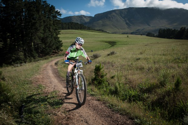 Seen here:  Nadia Visser in action during the 2014 FNB Wines2Whales MTB Adventure.  Photo Credit:  Cherie Vale / NEWSPORT MEDIA
