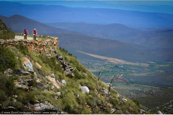 The iconic Swartberg Pass will feature in not one, but two stages in 2015, with competitors tackling it from both directions on Stages 4 and 5. Stage 4 will be a mountain-top finish, which is exceptionally rare in mountain bike stage racing. Photo credit: Zoon Cronje/Nikon
