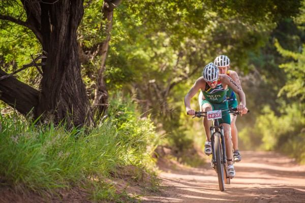 Up and coming multi-sport star Ruan Van Zyl (17) will start the New Year with a bang by aiming for a hattrick win at the Fedhealth XTERRA Buffelspoort Lite on Sunday, 24 January 2016.  Seen here:  Ruan Van Zyl in action during the 2015 Fedhealth XTERRA Buffelspoort Lite.  Photo Credit:  Volume Photography
