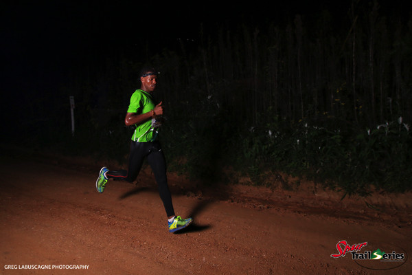 Eric Ngubane on his way to first place at the Spur KZN Trail Series® Race 2. Image by Greg Labuscagne
