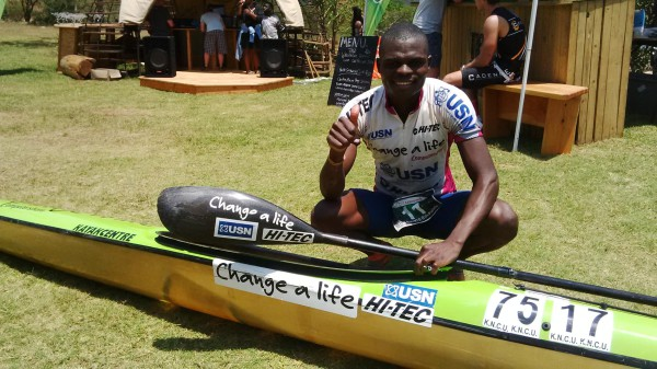 Computershare Change a Life star Nhlanhla Cele showed his diverse skills as he won the first ever Maqhwe Mfula Challenge which consisted of a 25km trail run, a 55km mountain bike ride and an eight kilometre paddle over the past weekend in the Valley of a Thousand Hills. Kevin Sawyer/ Gameplan Media