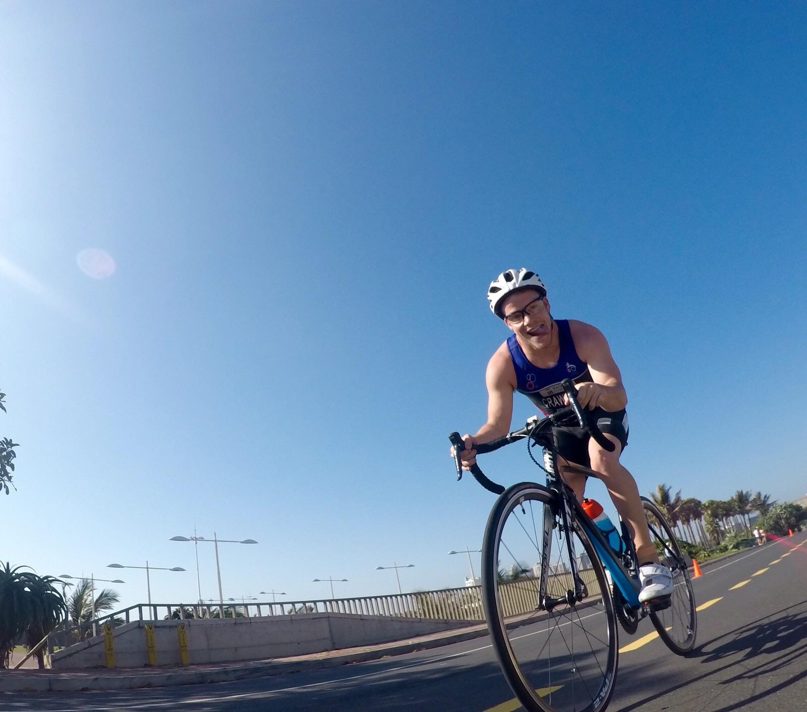 With triathlon being his passion, Sebastian Crawford will drop the swimming and running as he takes on the 2015 Momentum 94.7 Cycle Challenge as part of The Paige Project team that looks to raise funds for cerebral palsy.