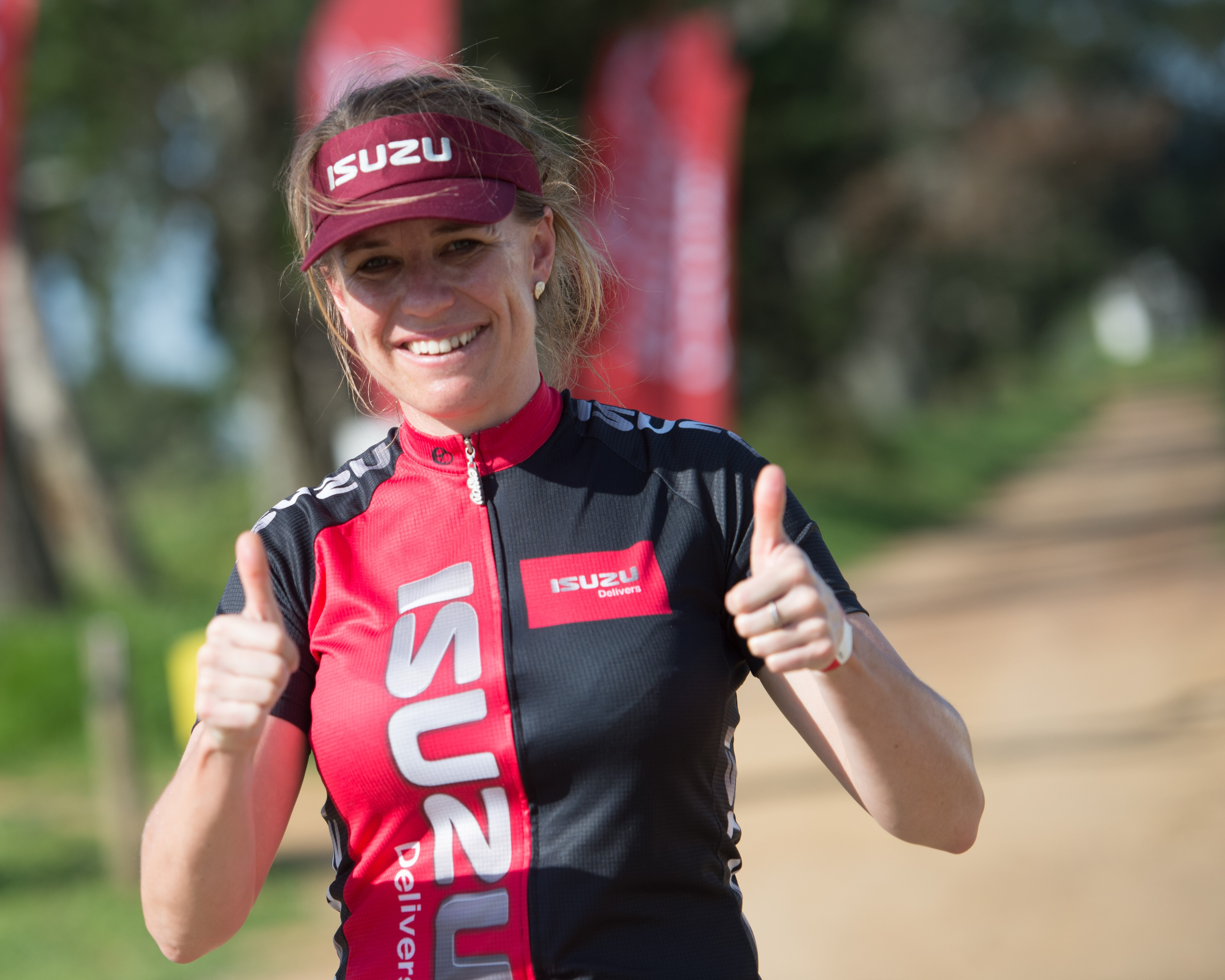 The Pennypinchers Origin Of Trails two-day mountain bike (MTB) stage event has attracted the attention of the ISUZU MTB Academy.  ISUZU MTB Academy Coach, Jo Dobinson will be seen in action riding with four of the academy riders.  Photo Credit:  Volume Photography