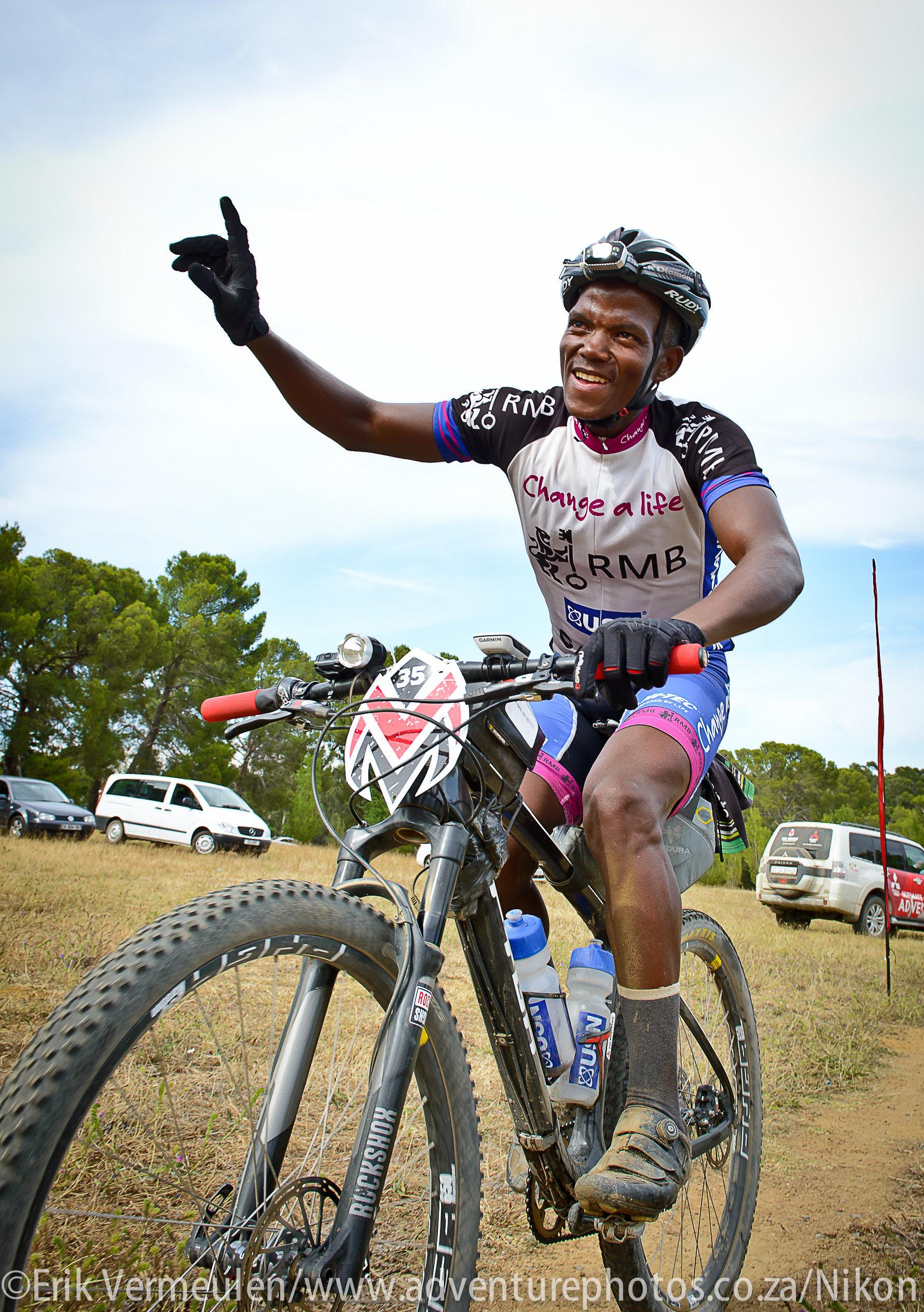 RMB Change a Life MTB Academy ace John Ntuli claimed a career defining win at the recent 1070km The Munga mountain bike race from Bloemfontein to Wellington. Erik Vermeulen