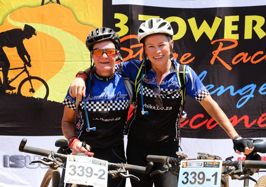 Having successfully tackled the recent Isuzu 3 Towers Stage Race together, Jeanette Treherne (left) and Vivienne Turvey (right) from Nelspruit, Mpumalanga are relishing Sunday, 6 December's fresh challenge of the 2015 STIHL Sharks Trail Adventure at Summerveld Estate.