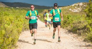 Trail runners wishing to get the most out of the 2016 AfricanX Trailrun presented by ASICS, are invited to join in on the AfricanX training run at Cecilia Forest (Newlands) on Wednesday, 16 December 2015.  Seen here (from left to right):  Dawid Visser and Rohan Kennedy in action at the 2015 AfricanX Trailrun presented by ASICS.  Photo Credit:  Volume Photography