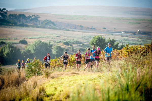 Seen here:  Trail runners in action during the 2015 AfricanX Trailrun presented by ASICS.  Photo Credit:  Volume Photography