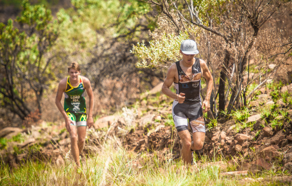 The action-packed Fedhealth XTERRA will make its Nelson Mandela Bay debut this coming weekend, 29 – 31 January 2016.  Seen here (from left to right):  XTERRA Warriors Michael Lord and Antoine van Heerden (Managing Director of ButtaNutt) in action at the Fedhealth XTERRA Buffelspoort that took place this past weekend.  Van Heerden will be on the start line of the Fedhealth XTERRA Nelson Mandela Bay Full.  Photo Credit:  Tobias Ginsberg