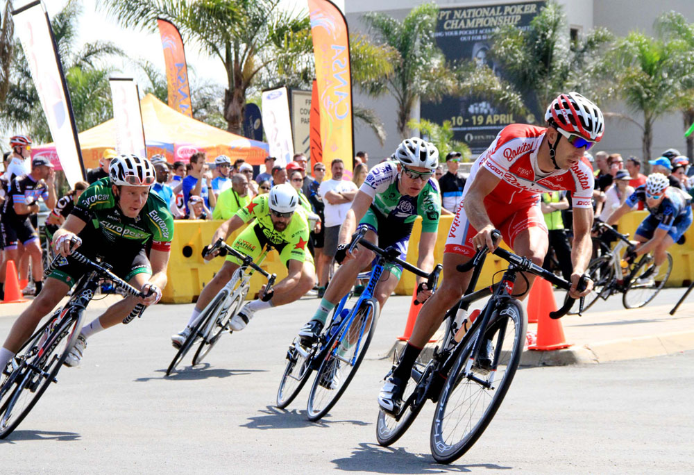 Riders in full flight during the Circuit Spectacular criterium at Emperors Palace Classic. Photo: Supplied