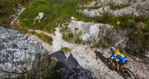 Swedish marathon champion, Jennie Stenerhag, tackles the rugged trail through the Attakwas Reserve on her way to third place in the 2015 Fairview Attakwas Extreme Mountain Bike Challenge. Stenerhag joins a strong field once again on Saturday to tackle the 10th anniversary edition of one of South Africa's most iconic one-day mountain bike races. Photo credit: www.oakpics.com