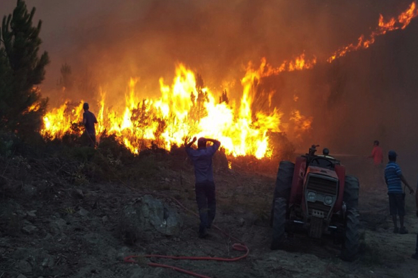 Fighting fires in the Elgin Valley this weekend.