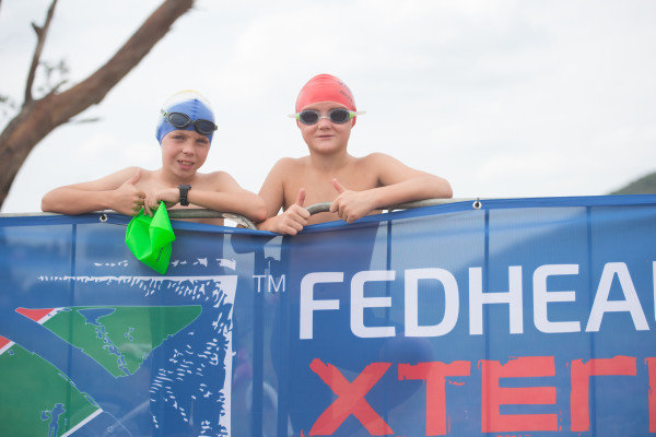 South Africa's premier off-road triathlon, the Fedhealth XTERRA made its Nelson Mandela Bay debut at the exquisite Kings Beach on Friday, 29 January 2016.  Seen here: Junior Fedhealth XTERRA Warriors in action on the day.  Photo Credit:  Tobias Ginsberg