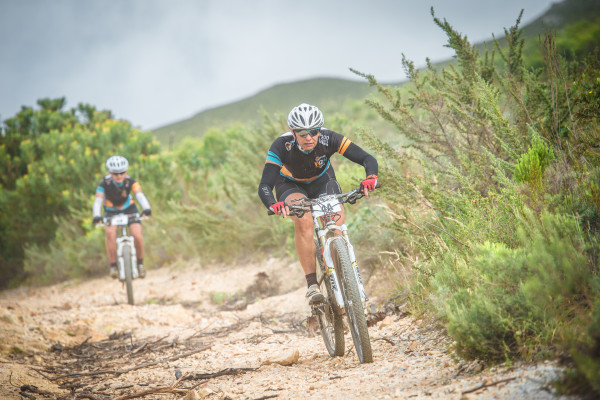Entries for the 2016 FNB Wines2Whales (W2W) Mountain Bike (MTB) Events will open on Monday, 15 February 2016.  Seen here (from left to right):  Simone and Lolita Van Aardt in action at the 2015 FNB Wines2Whales MTB Adventure.  Photo Credit:  Tobias Ginsberg