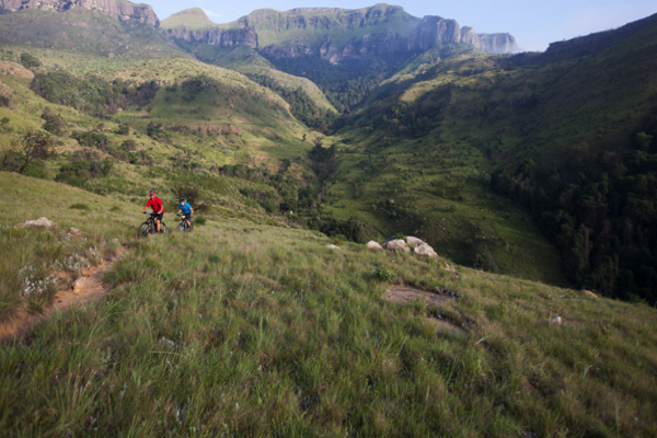 The majestic Northern Drakensberg region will offer spectacular mountain trails for RidetheBerg, a new mountain bike stage race that will take place on 25 and 26 June 2016. Photo credit: Gary Perkin