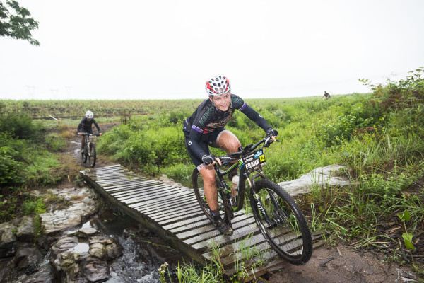 Kargo Pro Cycling's Frankie du Toit (front) and Hayley Smith (background) are looking forward to taking on the trails of the Sappi Howick MTB Classic on Sunday, 6 March. Anthony Grote/ Gameplan Media