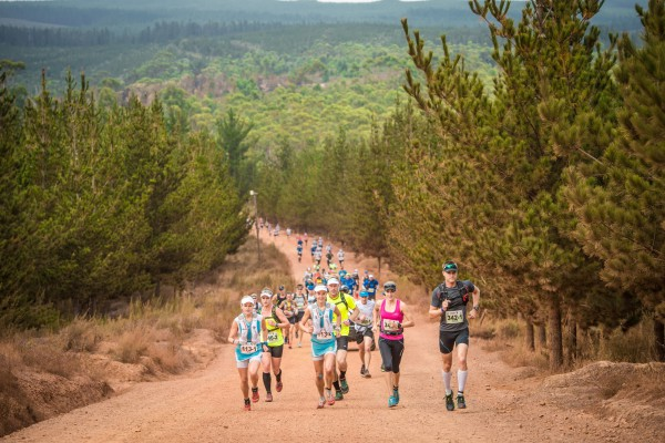 Trail running enthusiasts preparing to take on South Africa's premier three day stage trail run, the Cell C AfricanX Trailrun presented by ASICS, will be pleased to hear that the 2016 event boasts a whopping prize purse of R167 000.  Seen here:  Trail runners in action at the 2015 Cell C AfricanX Trailrun presented by ASICS.  Photo Credit:  Tobias Ginsberg