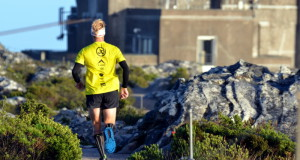 K-Way athlete AJ Calitz is again the champion of the annual K-Way Platteklip Charity Challenge after he summited Table Mountain's Platteklip Gorge 11 times between sunrise and sunset on Saturday.