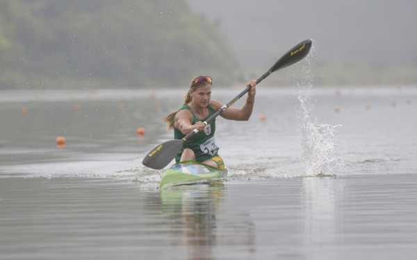 Bridgitte Hartley rounded off a successful weekend's racing at the Canoe Sprint Africa Championships at the Shongweni Dam by claiming the African Canoe Federation's Women's Paddler of the Year Award for 2015. Anthony Grote/ Gameplan Media