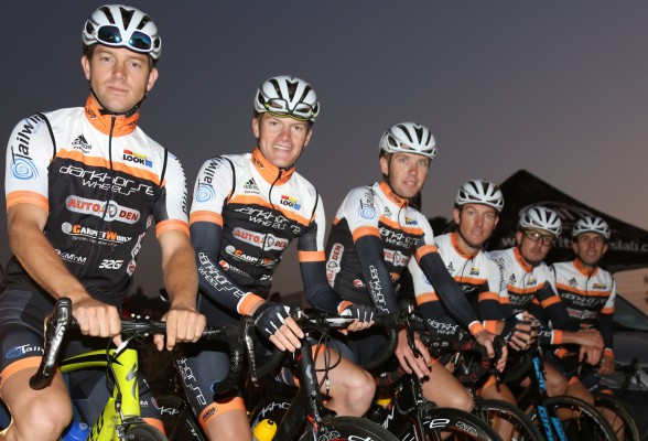 The recently launched Darkhorse-AutoDen Racing team is relishing taking on the 2016 aQuellé Tour Durban on Sunday 24 April. They will be represented by Tyler Day (left), Jaco van Dyk (second left), Herman Fouche (third left), Armand Mouton (second right) and Dennis van Niekerk (right) at the clash while team member and manager Dusty Day (third right) will not participate.