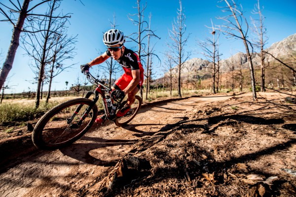 Elite South African mountain biker James Reid will be gunning for gold at the 5th annual Cell C Arabella MTB Challenge that will be held at the picturesque Arabella Hotel & Spa in Kleinmond on Saturday, 23 April 2016 and Sunday, 24 April 2016. Seen here:  James Reid in action.