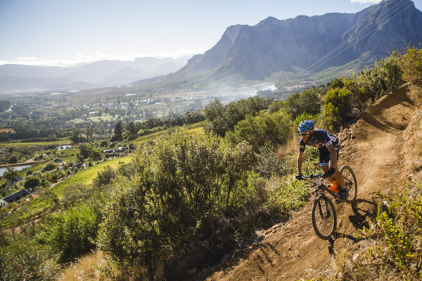 A scene from the inaugural Liberty Winelands MTB Encounter. Photo: Ewald Sadie