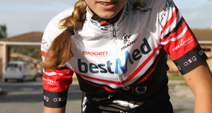 St Dominic's Priory pupil Kelsey van Schoor, who rides for the Team Bestmed-ASG pro team, has been showing versatility and promise on the bike. Photo: Supplied