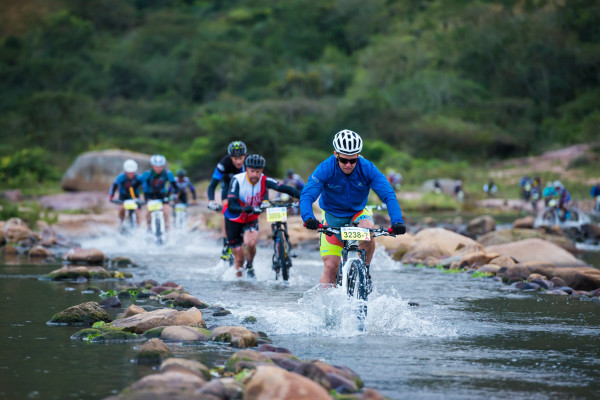 The riders had to deal with a few chilly river crossings on the second and final stage of the 2016 BSi Steel dusi2c. Anthony Grote/ Gameplan Media