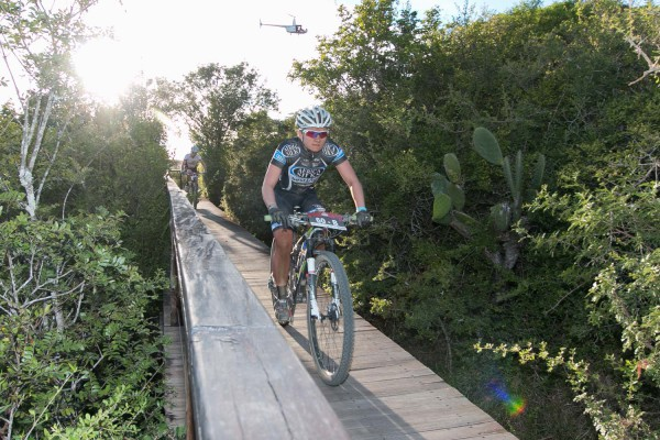 This year's joBerg2c champions, Anriette Schoeman (pictured here) and Samantha Sanders, will join forces in the women's category of the three-day PwC Great Zuurberg Trek, which starts on Friday. Photo: Supplied