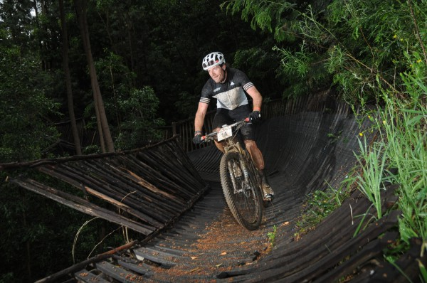 The organizers of the Cape's renowned three-day stage mountain bike race, the FNB Wines2Whales (W2W) Mountain Bike (MTB) Events, are excited to welcome sporting goods and apparel manufacturer, adidas SA as the event's official off-bike apparel partner.  Seen here:  Michael Creedon in action during the 2015 FNB W2W MTB Adventure.  Photo Credit:  Jetline Action Photo