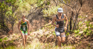 Online entries for the 2017 Fedhealth XTERRA SA Season has opened.  Seen here (from left to right):  Michael Lord and Antoine Van Heerden in action at the 2016 Fedhealth XTERRA Buffelspoort.  Photo Credit:  Tobias Ginsberg