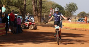 Greig Knox of UCT Private Client Holdings wins the 60km feature race at the Bestmed Sondela MTB Classic near Bela-Bela on Sunday. Photo: Snapper.Photo