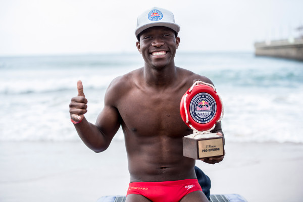 Following his win at the 2015 edition, Wiseman Mvubu will return to defend his title at the 2016 Red Bull Beach Patrol on the Durban Beach Front on 10 July. Craig Kolesky/ Red Bull Content Pool