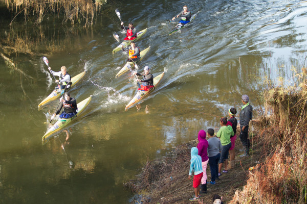 Paddlers were greeted to some unseasonably good weather for the first stage of the 2016 Berg River Canoe Marathon on Wednesday, 13 July. John Hishin/ Gameplan Media