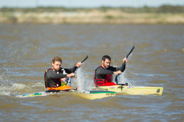 It was another end sprint that decided the final stage honours as Euro Steel/Kayak Centre's Hank McGregor outsprinted Simon van Gysen for the honours on the fourth and final stage of the 2016 Berg River Canoe Marathon into Velddrif on Saturday. John Hishin/ Gameplan Media